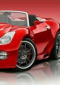 Sweet little red sports car!