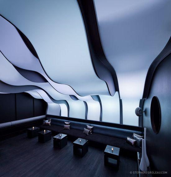 W Hotel Montreal - Wunderbar by Stephane Groleau, Futuristic Interior Design, Colorful