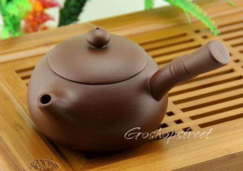 Chinese Graceful Handmade Crafted YiXing ZiSha Pottery Clay Teapot Pot 200 ml