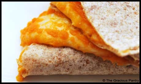 Clean Eating Butternut Squash Quesadilla From www.TheGraciousPa...