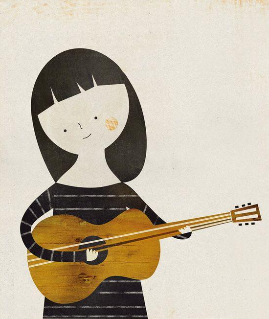 Música print by Blanca Gomez
