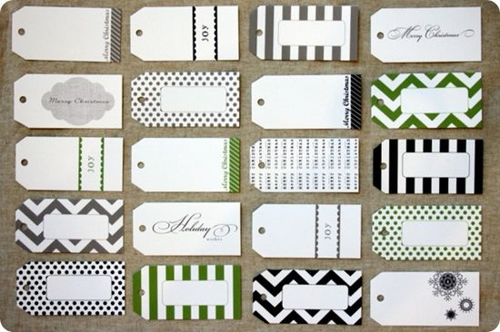 Free templates #green #white #black #gift #tags #diy #wrapping #presents #packaging