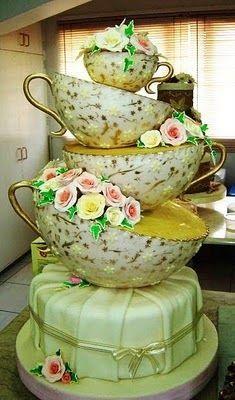 Beautiful Tea Cup Cake!