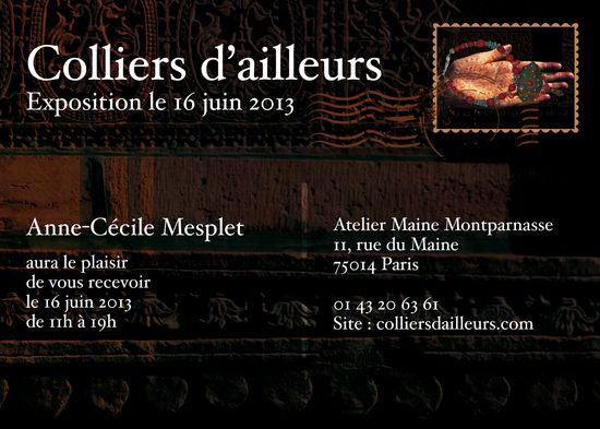 expo COLLIERS d'AILLEURS  Paris -  verso