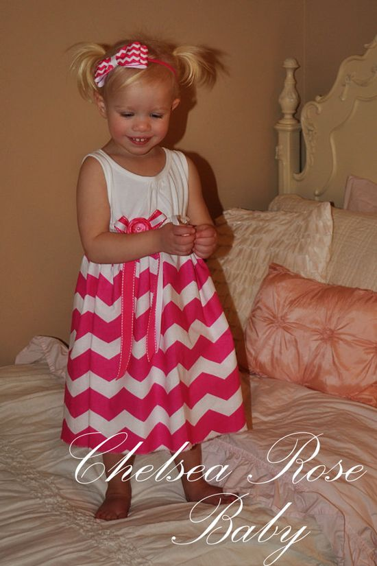 Gorgeous Chevron Baby and Toddler Dress Baby by ChelseaRoseBaby