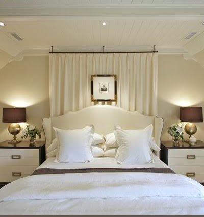 drapes behind master bed