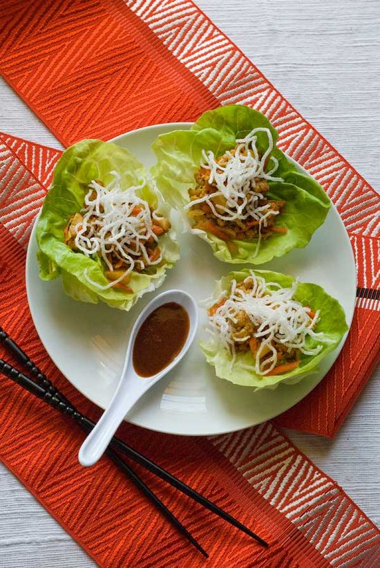 chicken lettuce wraps  (and other GF recipes)