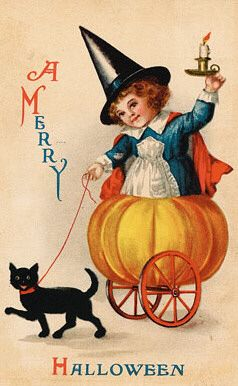 Wishing you a very merry Halloween! #vintage #Halloween #cute #cards