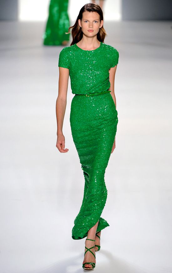 Emerald. #Green #Dress #Runway #Fashion #pantone #pantonescoloroftheyear #emerald #emeraldgreen #colors #colordesign #colorinspiration #colorideas #trend #trending #coloroftheyear #coloroftheyear2013 #fashion #colorfashion #inspiration #green #ontrend #colorauthority #fashionablecolors #2013 www.gmichaelsalon...