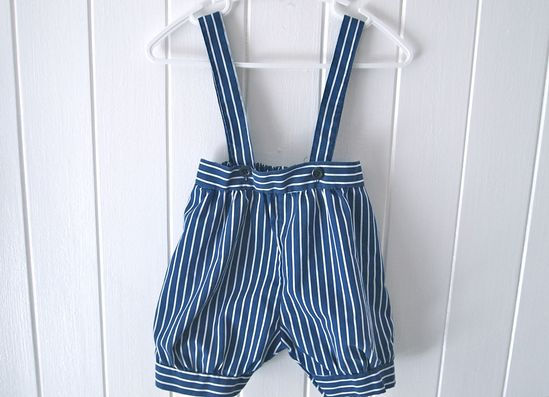 Stripped baby overalls
