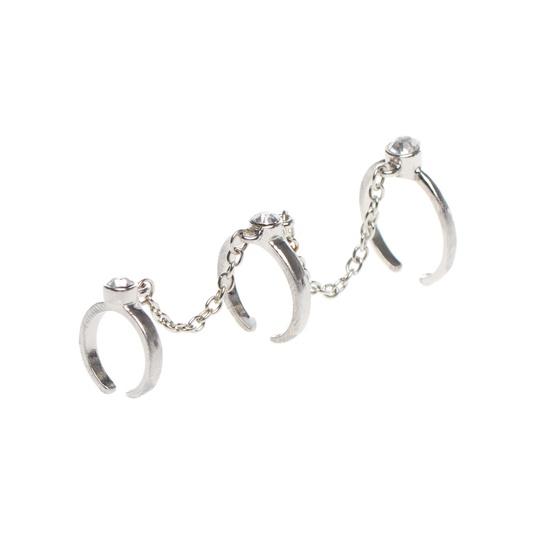 Rhinestone Ring Trio