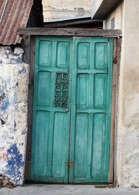 door with a little rust look to it