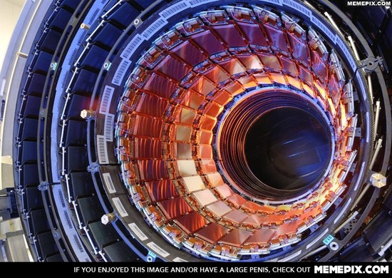 Just a peek into the Large Hadron Collider. - MemePix