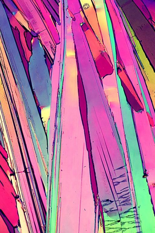 Microscopic Modern Crystal Purple Edge Abstract 2