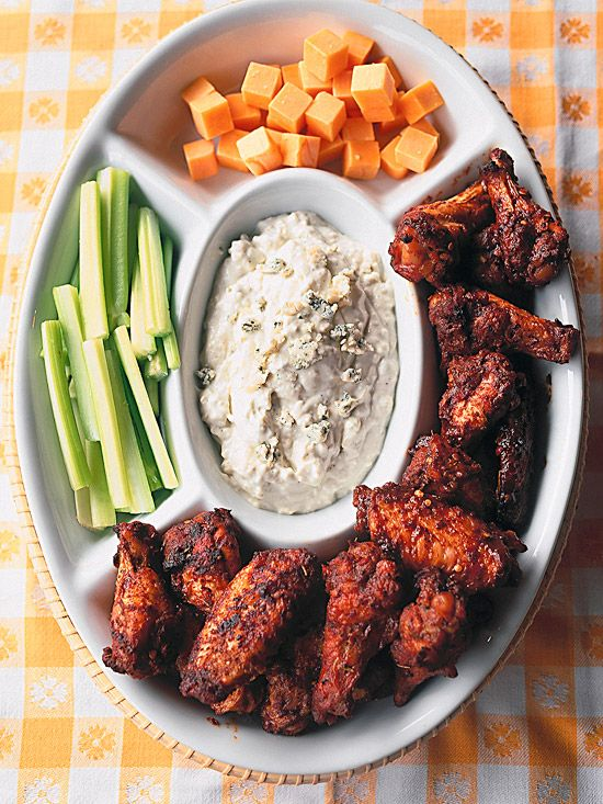 Love spicy food?  Kenny's Wings of Fire are smothered with three types of hot sauce! More ways to flavor your BBQ favorites: www.bhg.com/...