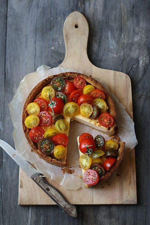 Savory Cheesecake w/Tomatoes