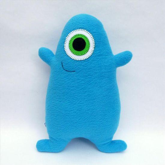 Stuffed monster, add a heart or spots?