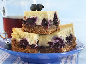 Turn these blueberry cheesecake bars into a 4th of July favorite by adding strawberries or raspberries (or both!)