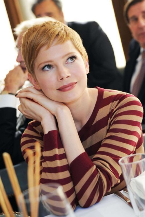 Michelle Williams' pixie cut is what inspired me to cut off all my hair years ago.