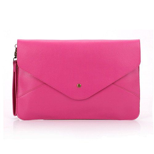 Amazon.com: Hee Fly Women's PU Envelope Clutch Chain Hangbag Color Rose: Shoes