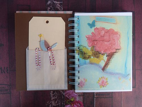 Handmade Journals inside pages
