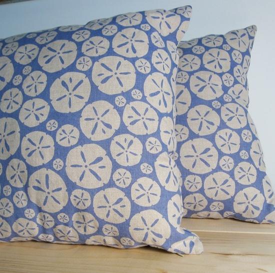 sand dollar pillows
