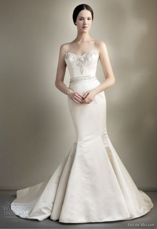 eve of milady spring 2013 strapless trumpet mermaid wedding dress
