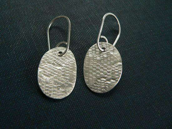 silver earrings  unique handmade silver jewelry  by