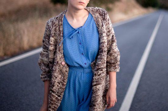 Cardigan  Handknitted Handspun Natural Wool Sweater by mosgos, $290.00