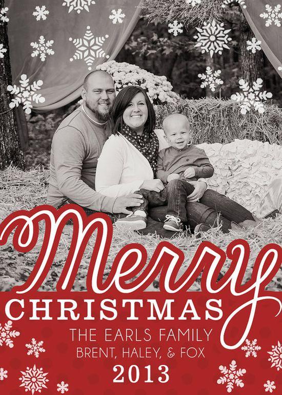Adorable Christmas holiday greeting card