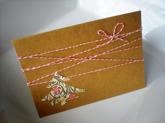 Christmas Cards!  Kraft Paper, A6 featuring Christmas tree and bakers twine.  Comes with envelopes!