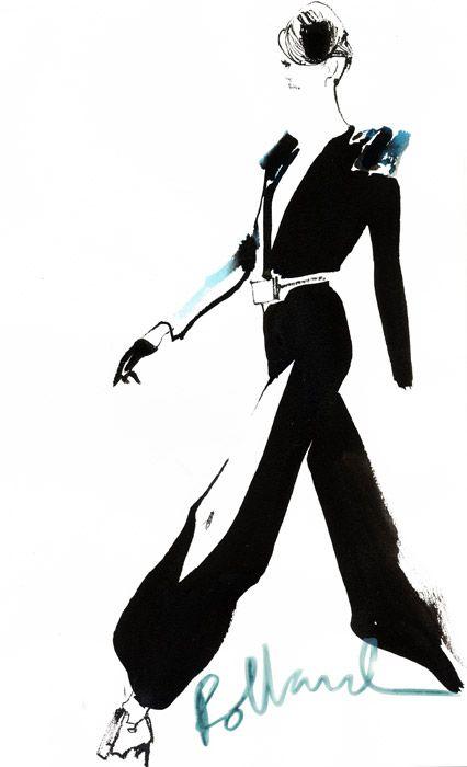 David Downton #fashion #illustration