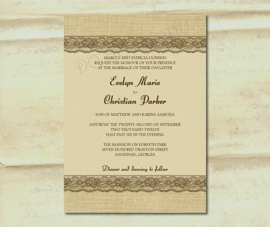 invites and lace