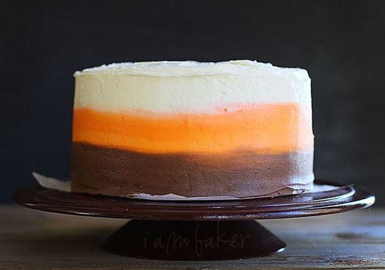 Candy Corn Inspired Cake