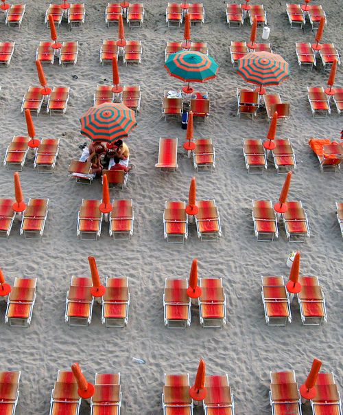 Red beach party...