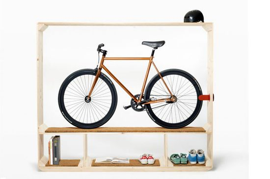 From '10 Best Storage Ideas for Apartments' on @homelife.com.au -  the 'Shoes Books And A Bike' unit by Thomas Walde.