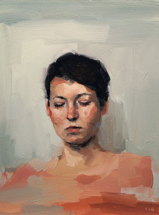 A Quiet Place, Fine Art Print of Original Oil Painting Portrait