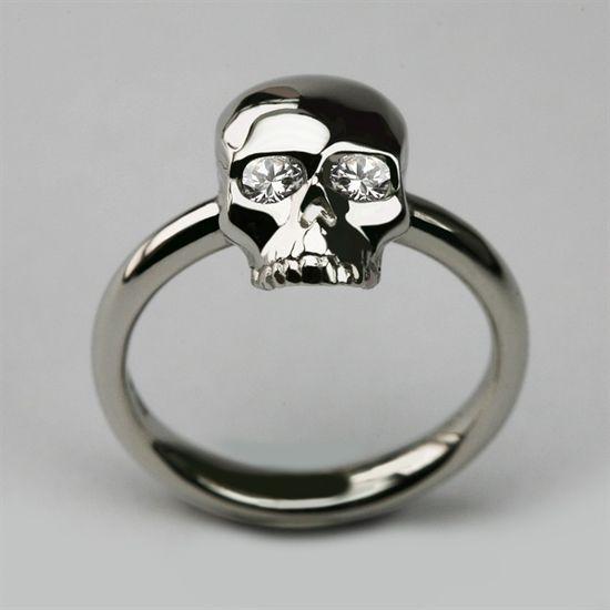 Skull #silver #skull #ring