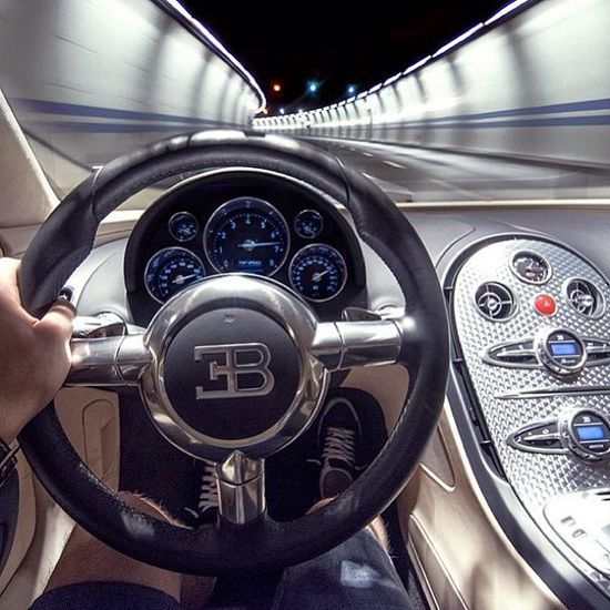 Behind the wheel of a Bugatti Veyron