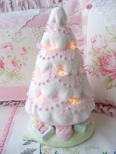 Vintage Re Do Shabby Pink Tree