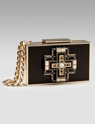 50 Dream Handbags: Lanvin Jeweled Evening Minaudiere, $3,990 #handbags, #handbags galore, #purse,#evening bag,