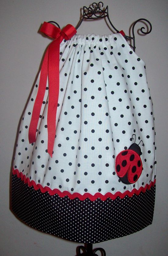 Ladybug Pillowcase Dress Perfect for Summer or by molliepops, $26.00