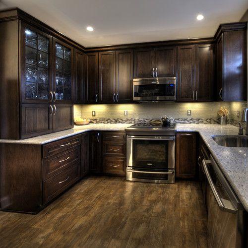 Wood look ceramic tile floor