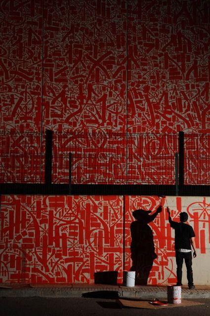 #street #art #streetart #red #black