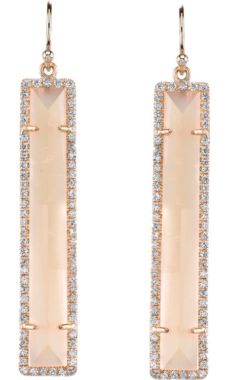 Irene Neuwirth Moonstone & Diamond Earrings