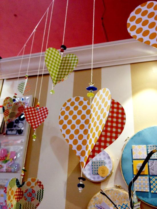 NEW Lily Bee Design CHA - Hanging Hearts - <a href='http://Scrapbook.com' target='_blank' rel='nofollow'>Scrapbook.com</a>