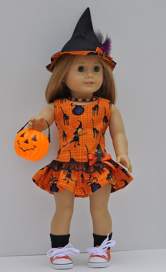 American Girl doll clothes Halloween dress witch by OneGirlsDream, $30.00