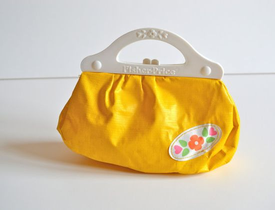 Vintage Fisher Price Toy Plastic Purse