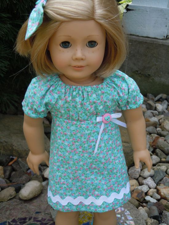 American Girl peasant style dress and by CharsBoutique1958 on Etsy, $16.00