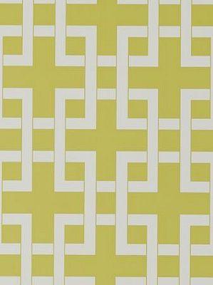 Andrew Martin-Schumacher Fabric Lattice WP-Citrus Price Per Roll: $93.75 #Interiors #Decor #Yellow